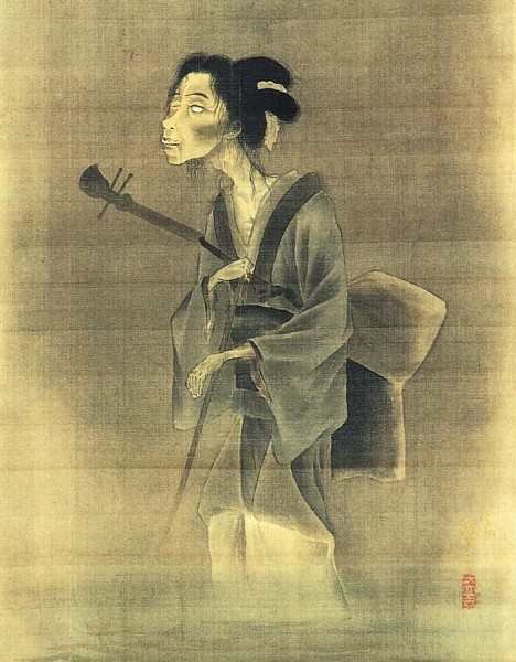Fantasma-cantante-ciega-de-la-calle-Utagawa-Hiroshige